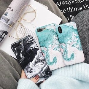 Accessories - NEW iPhone X/7/8/7+/8+ Oil Paint Marble Case